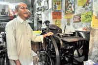 A Linotype Printing Press still in use