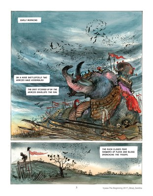 Vyasa: the Graphic Novel - Story: Sibaji Bandyopadhyay, Art: Sankha Banerjee 2