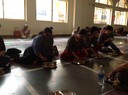 Participants at the cluster meeting at an ashram