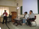 International Conference on Asian Cinema: Towards a Research and Teaching Agenda, CSCS, Bangalore, Karnataka. In pic: (from left) Ashish Rajadhyaksha, Audrey Yue, K. Hariharan